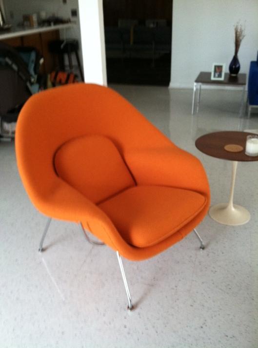 """My Beautiful """"Womb"""" chair- thank you to my precious husband!"""