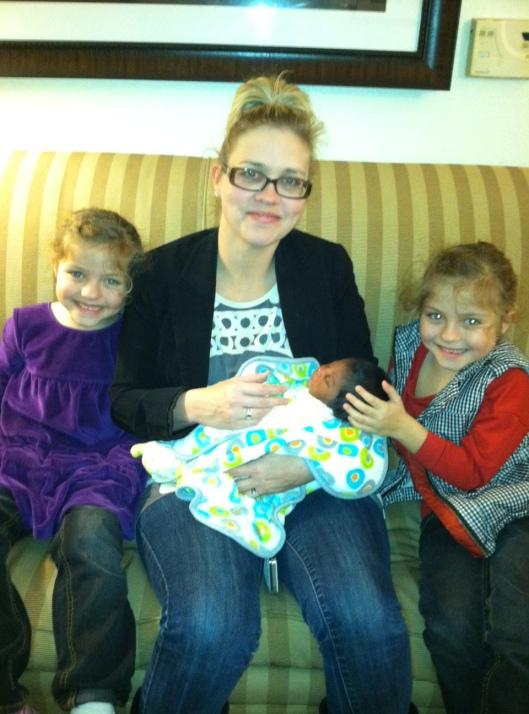 Heather, twins, and Baby Girl Jones