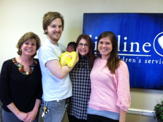 Agency Angels! Birthmother counselor on far right!